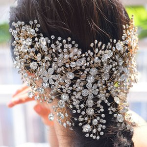 Hot Sale Luxury Bridal Headpiece With Crystal Beaded Rhinestone Wedding Party Women Heandbands Free Shipping 2021