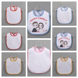 2020 Blank Newborn Burp Cloths Thermal Transfer DIY Print Saliva Tissue Baby Waterproof Bib Infant Saliva Towel Kids Baby Feeding E122107