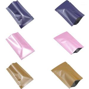 100 unids Bolsas de mylar sellable de calor colorido para tuercas Paquete de caramelo abierto Papel de aluminio plano abierto bolsillos bolsillos bolsas de vacío Bolsas1
