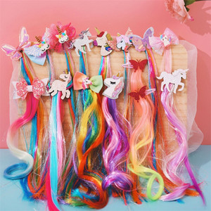 Cosplay Wig Unicorn Hair Band Fashion Butterfly Hairs Ornament Princess Children Ribbons Colored Headband Accessories 3 36hs K2