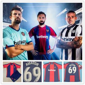 2021 Levante UD Futebol Jersey 2020 Rochina Camisetas de Futbol Levante A.J.Morales Roger MS. Bardhi J Campana Camisas de futebol Calcio