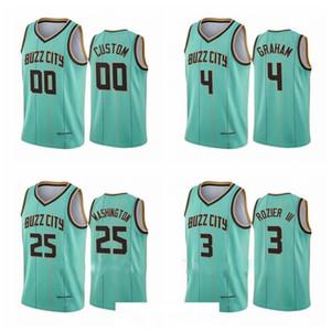Hombres Devonte 'Graham # 00 2 Lamelo Ball Jersey 2020-21 Menta Green Buzz City Jersey S-3XL