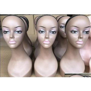 Free Shipping Top Quality Female Different Skins Wigs Display Mannequin Head With Makeup Ma qylTcc bdehair