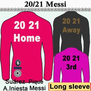 barcelona 20 21 barca Messi Grezmann с длинным рукавом Футбол Нью-Джерси Суарес Rakitic Mascherano Pique Coutinho Dembele Home Red Alet 3-я рубашка