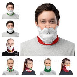 Chirstmas Face Shield Bandana Face Mask Outdoor Sports Bandana Mask Magic Headscarf Headband Visor Neck Gaiter Christmas Decoration Gifts