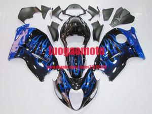 Fiamma del motociclo del motociclo di ABS Fiamma blu e nere per Kawasaki ER-6f Ninja 650R 2012 2013 2014 2015 2015 Cowling