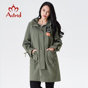 trench coat spring female trench clothes Classic women Hooded Solid color Fashion femme Ukraine ladies new astrid AS-7015 201211