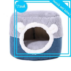 Yopeto Winter Warm Pet Mand Kat Cave For Dog Puppy Home Sleep Kennel Teddy Comfortable House Cat Bed