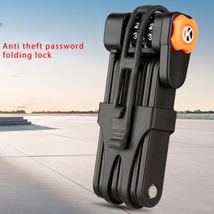 Anti-theft Bicycle Lock Folding Anti-shear Password Lock Cutter Bike Motorcycle Lock Bicycle Safe Part Y1203