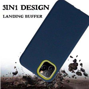 Armor Phone Case for iPhone 12 11 Pro 6 7 8 Plus XS Max XR Samsung Note 10 Pro A10S A2 Core 3 في 1 Hybrid Hybrid TPU PC الغلاف الخلفي MQ100