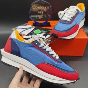 LD Mesh Adam Koşu Ayakkabıları En Kaliteli Siyah Naylon Zirvesi Beyaz Mavi Çok Sneaker Kutusu Boyutu 36-45
