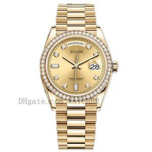 WatchBR-U1 40 мм 36 мм Механические автоматические Часы Алмазные Мужские Часы Дата Часы Леди Женщины Diamondwatch Водонепроницаемые Светящиеся Часы