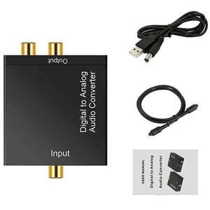 Portable 3.5mm Jack Coaxial Optical Fiber Digital to Analog Audio AUX RCA L R Converter SPDIF Digital Audio Decoder
