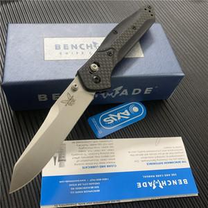 Lehimet Bıçak S30V Bıçak Katlanır Kolu 940-1 Siyah / Saten Düz Benchmade Karbon Osborne BM535 BM940 BM535S Blade Rnixr