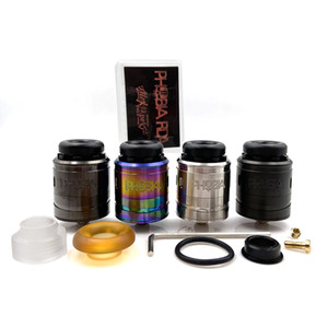 Hot Sale Phobia V2 RDA 24mm Atomizer 1ml Easy To Build Single Coil Or Dual Coils 8.8mm Deep Juice Tank Fit 810 Resin Drip Tip Box Mod