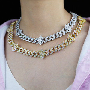 Iced Out Cz Paved US Dollar Sign Charm Choker Hip Hop Necklace with High Quality Cubic Zircon Paved Cuban Chain Bracelet Foot Jewelry