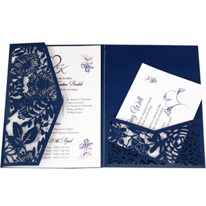 Laser Cut Wedding Invitation Cards Greeting Card Lace Favor Print Business Card With RSVP Envelope Decor Party Supplies