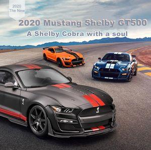 Maisto 1:18 2020 Ford Mustang Shelby GT500 Sports Car Vehículos de fundición Mense Modelo de colección Juguetes de coche