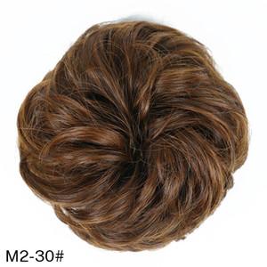 Nova Chegada Moda Múltiplas Cores Marrons Faux Hairs Borracha Pom-Pom Bola De Cabelo Estilo Extensão Artificial Chignons
