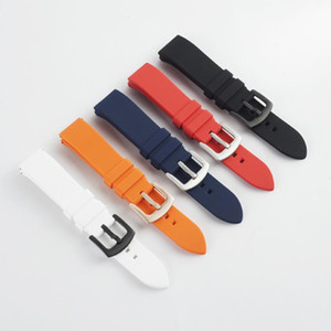 Silicone Strap 18mm 20mm 22mm Watch Accessories Sports Watch With Silicone Strap Fitness Motorcycle Smart Strap