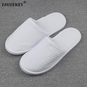FAYUEKEY 2018 New Wholesale 5pairs\\lot Hotel Club Supplies Not Disposable Hospitality Slippers Home Indoor Floor Guest Slippers