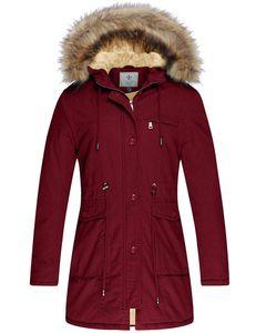 Women's Winter Coat Fleece Cotton Parka Fur Hooded Jacket