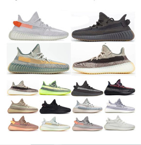 2021 Men Women Kanye West Sport Sneakers Cinder Linen lsrafil Oreo Sesame V2 Run Shoes Zebra Static Cream white Bred Blue Tint Butter Shoes