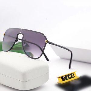 Fashion Men Women Large Frame Sunglasses Integrated Windproof Goggle lunettes de designer High-definition Gradual Change Lens Alloy Frame