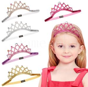 Kids Girls Rhinestone Sequin glitter Headband designer Tiaras Hair Band kids Hair Accessories Boutique baby Crown headwear DB432