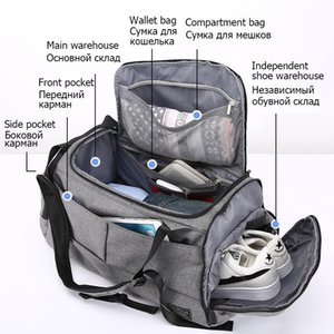 15 inch Gym Bag Multifunction Men Sports Bags Woman Fitness Bags Laptop Backpacks Hand Travel Storage Bag With Shoes Pocket Yoga Q1117