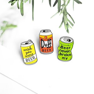 Drinks Cans Modelling Enamel Pin Boys Girls Fashion Beer Letter Cartoon Brooch Personality Badge New Pattern 2 2qq J2