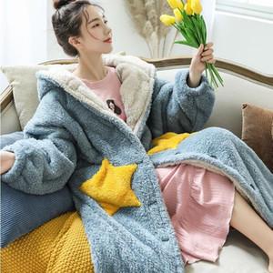 Hoodies For Women Winter Oversized Sweatshirt Female Long Hoodie Coat Fleece Blanket with Sleeve Hooded hoodies Sudadera Mujer