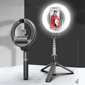 LED RING Live Light Bluetooth Tripod Selfie Stand Fill Свет Складной Стенд Селфи Палочка Красота Свет
