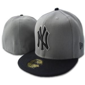 Commercio all'ingrosso uomo New York classico blu navy blu cappello piatto piatto team ricamato team NY logo fans cappello da baseball di alta qualità ossa bianche