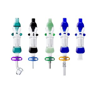 Smoking Pipe With 10mm GR2 Titanium Nail Glass Pipes Oil Rig Concentrate Glass Water Pipe Bongs
