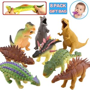Dinosaur Model Toy,8'' Rubber Dinosaur Food Grade Material Super Stretches,Realistic Dinosaur Figure Squishy Toy Y1127