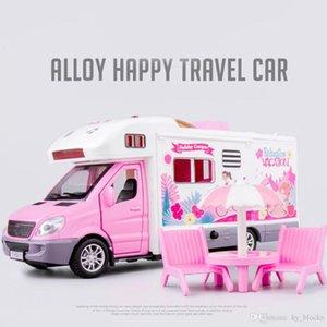 Mental toldo motorhome de volta carro portas de música lixa de lixa com caminhão campista 1:32 pull liga de brinquedo veículo ulwib
