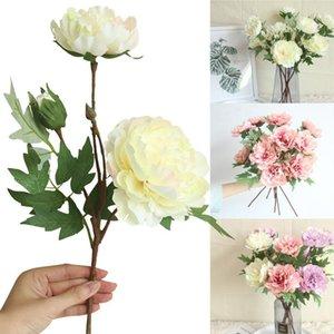 장식 꽃 화환 인공 실크 가짜 모란 꽃 결혼식 꽃다발 홈 장식에 대 한 신부 수국 장식 실내 Gift1