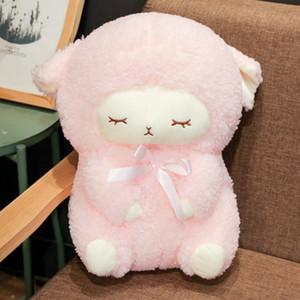 Kawaii Schafe Plüsch Spielzeug Simulation Gefüllte Tier Weiche Puppe Cartoon Plüsch Sleep Sheep Toys für Kinder Baby Kinder Geschenk 30-40 cm Y1215