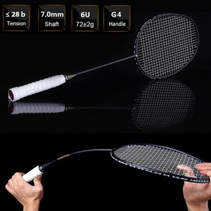 Ultralight 6U 72g Strung Racket Professional Carbon Badminton Racquet 22-28 LBS free Grips and Wristband Z1202
