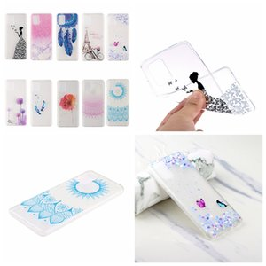 Fashion Soft TPU Phone Case For Huawei P Smart 2021 Mate 40 Pro Flower Butterfly Henna Paisley Tower Marble Dreamcatcher Mate 40 Clear Cover