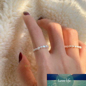 New Natural Freshwater Pearl Rings Women Fashion Jewelry Simple Multi Beaded Finger Rings Korean Style Gifts