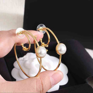 2021 Hot sale Luxurious quality round shape with one white pearl decorate for women drop earring with box free shipping PS3560