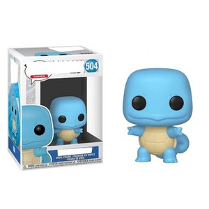 OHMETOY Funko Pop PVC Dolls #504 Squirtle Collectible Model Action Figure Toys for Birthday Gift 10cm
