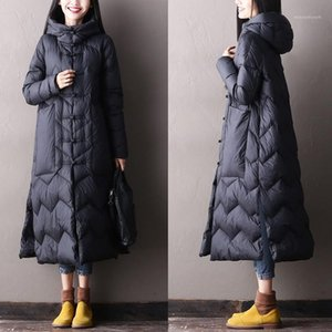 White Duck Down Jacket Women Thick Warm Long Winter Coat Women Hooded Female Snow Outwear Puffer Jacket1