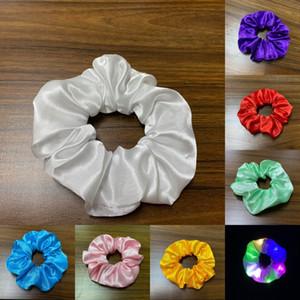 LED GLOW Saç Yüzük Katı Renk Çok Işık Hairbands Lady Kız Bar Parti Düğün Saçları Aksesuarları Aydınlık Popüler 1 25DZ G2