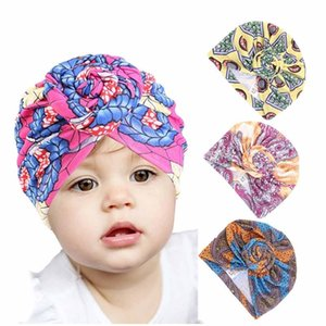 Baby Top Knot Turban Girls Floral Decor Headwear Toddler Boys Cap Cotton Beanie Hat Gift 2020 New Fashion Baby Hair Accessories
