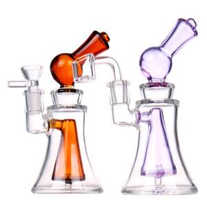 Liya Glass Bongs mini Dab Oil Rig Thick Water Pipe Quartz Banger Heady Glass Water Bong Hookahs