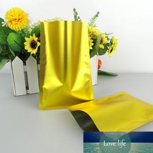 100Pcs Flat Matte Gold Aluminum Foil Food Storage Package Bag Mylar Heat Seal Snack Nuts Retails Packing Bag