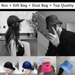 Для подарка с коробкой подарочные сумки дизайнеры мужские женские ведро шляпы шляпы солнца бейсболка кепка гольфа шляпа капота боннеты Snapback шапочки череп скатистые шансы